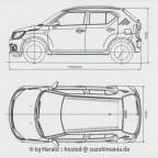 Suzuki Ignis 2019 4Views Outline