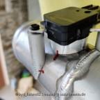 neue selbst-gefeilte Luftmassenmesser Flansch fürs 60er Alu Rohr