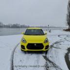 Gelbe Ente im Schnee