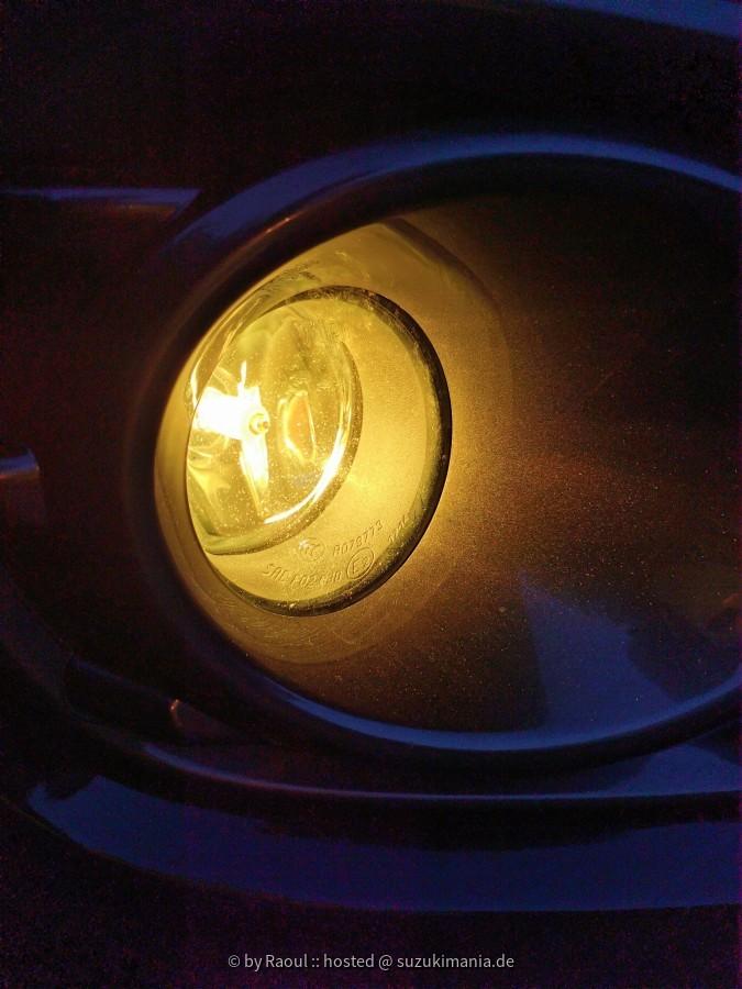 Umrüstung der Nebelscheinwerfer auf gelbe H11