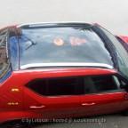 Lotusan - Aufkleber Dakar und Nr.8 als Dachtattoo in der Farbe Rot