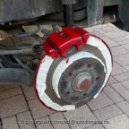 Das kleine Schwarze Bremsen rosso rot hinten