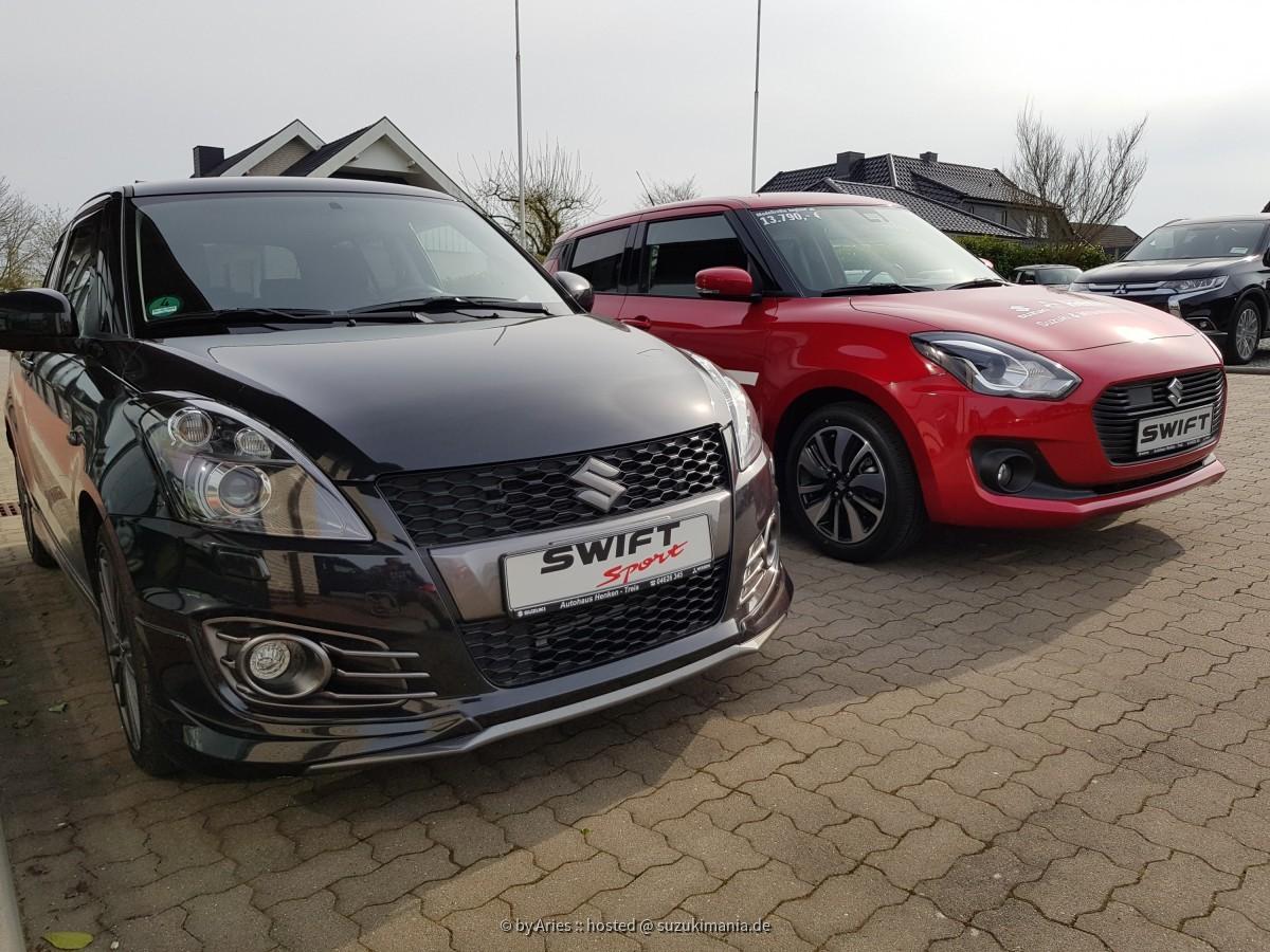 Vergleich Swift Sport NZ und Swift AZ Mild Hybrid