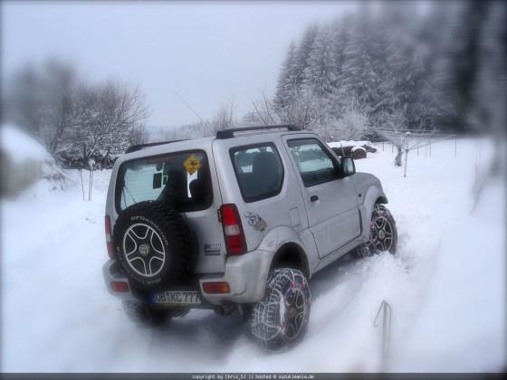 im Schnee...